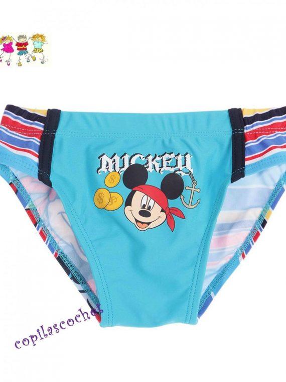 Slip de baie Mickey Mouse (albastru) tie cadou 1