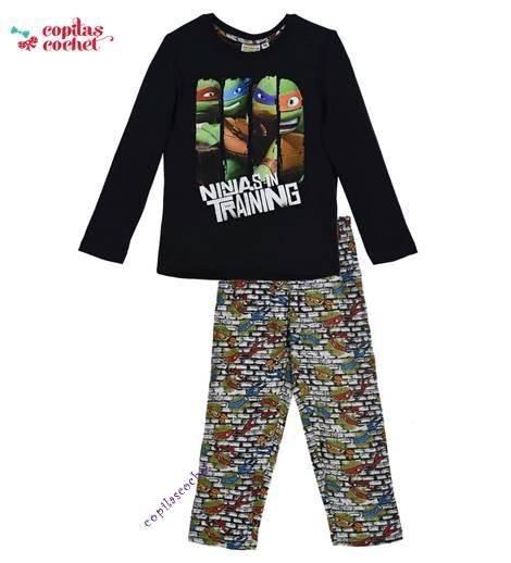 Pijamale Testoasele Ninja (bleumarin-gri) 1