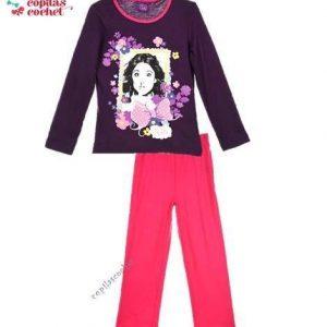 Pijamale Violetta (mov-fucsia) 1