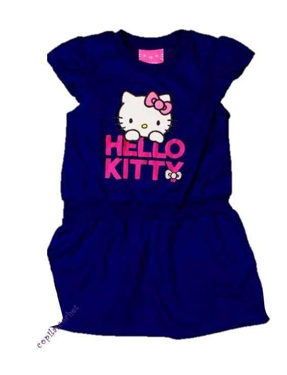 Rochie Hello Kitty (bleumarin) 1
