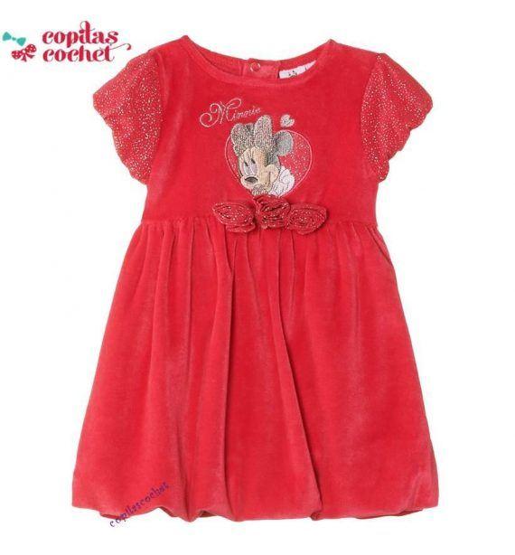 Rochie bebe Minnie Mouse(fucsia) 1