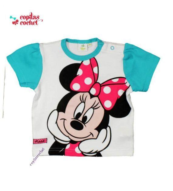 Tricou bebe Minnie Mouse (turcoaz) 1