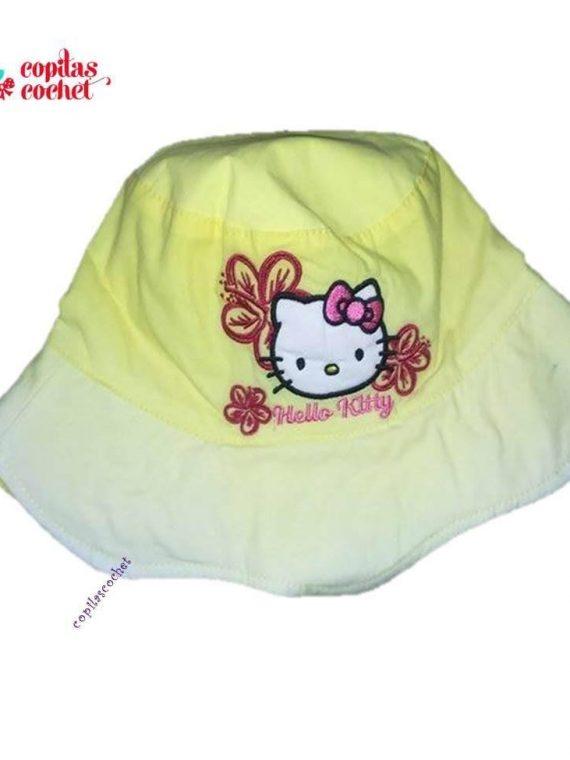 Palarie Hello Kitty (galben) 1