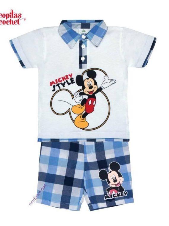 Compleu tricou-bermude Mickey Mouse 2 1