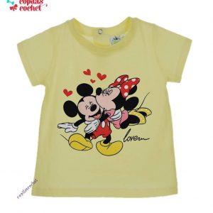 Tricou bebe Minnie&Mickey Mouse (galben) 1