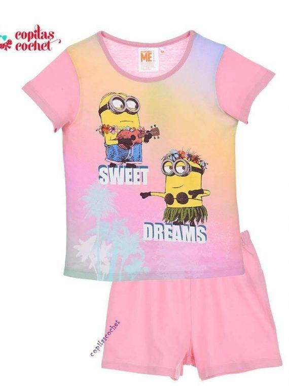 Pijamale de vara Minions (roz) 1