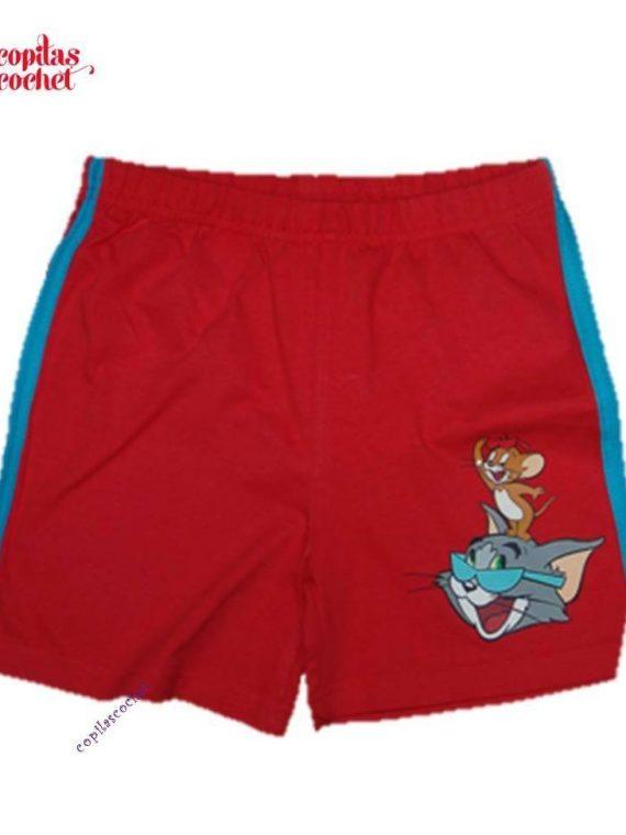 Pantaloni srti Tom&Jerry (rosu) 1
