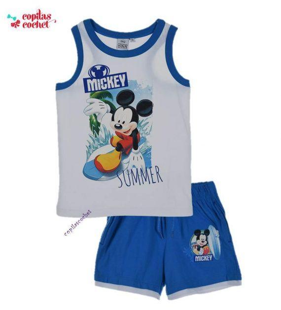 Compleu de vara Mickey Mouse (alb) 1