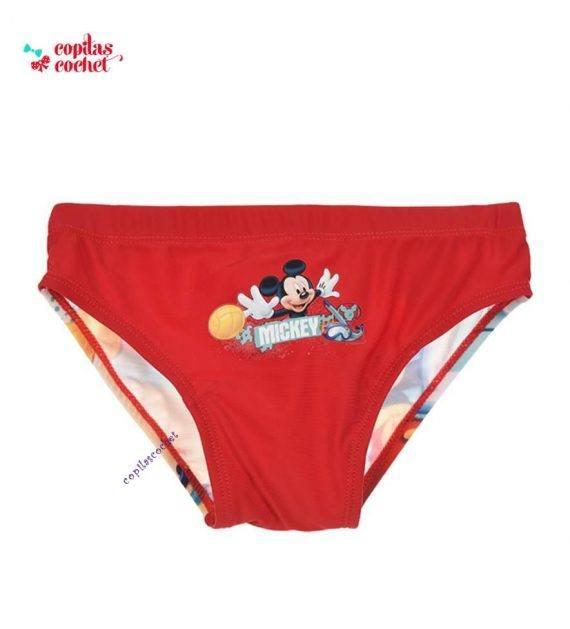 Slip de baie Mickey Mouse (rosu) 1