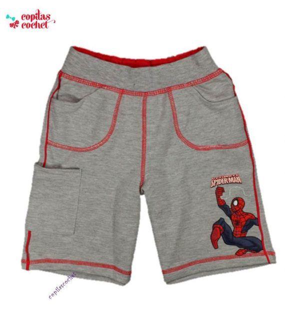Pantaloni srti Spiderman (gri) 1