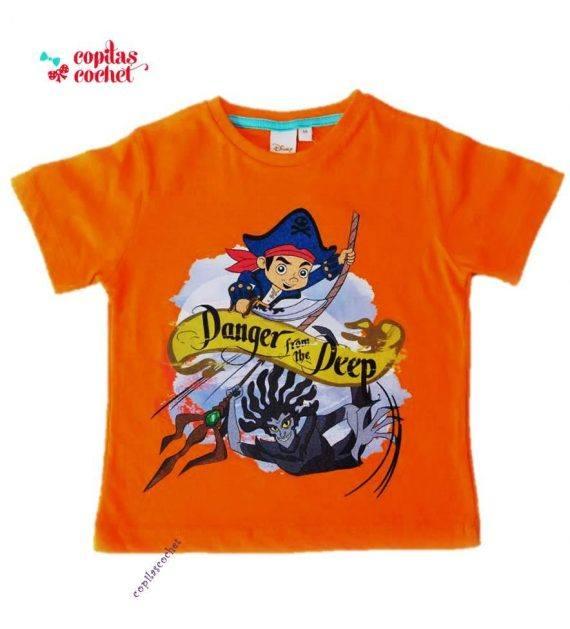 Tricou Jake si Piratii (orange) 1