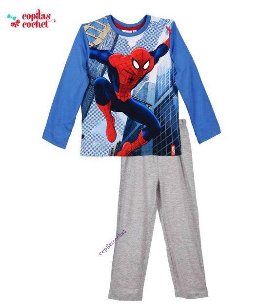 Pijamale Spiderman (albastru-gri) 1
