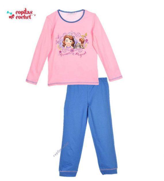 Pijamale Sofia (roz-bleumarin) 1