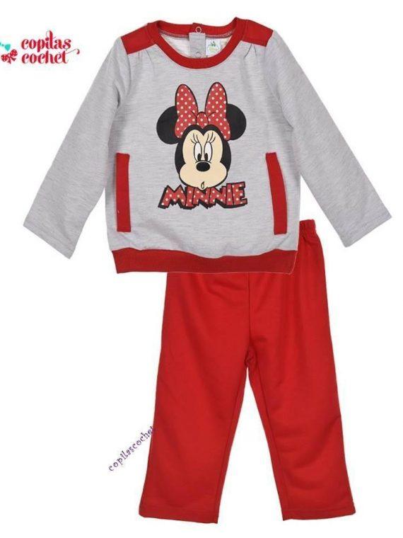 Trening bebe Minnie Mouse (gri-rosu) 1
