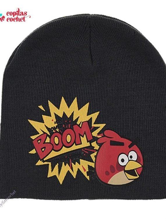 Caciula Angry Birds (gri petrol) 1