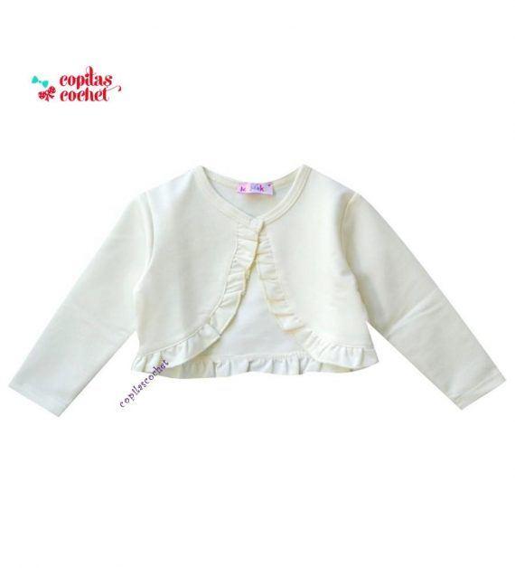 Bolero bebe alb 1