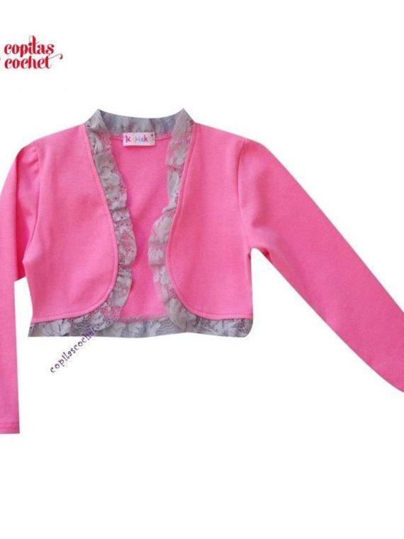 Bolero bebe roz dantela 1
