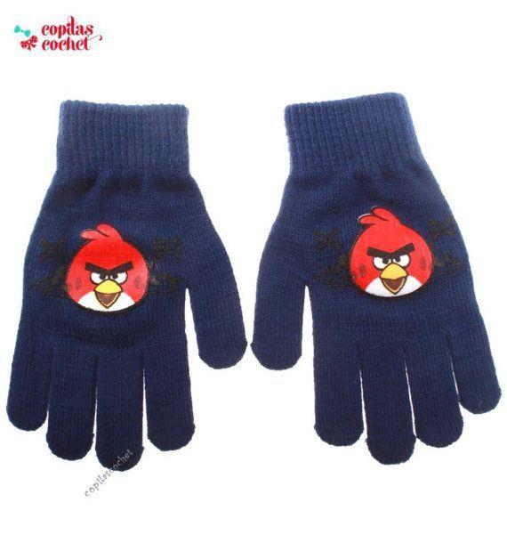 Manusi Angry Birds (bleumarin) 1
