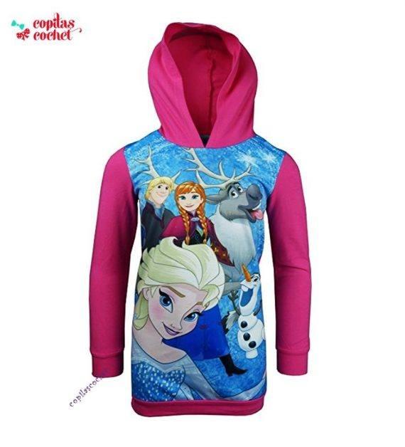 Rochie gluga Frozen (fucsia) 1
