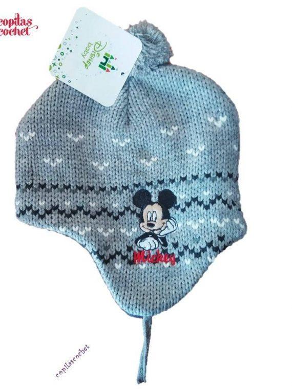 Caciula captusita bebe Mickey Mouse (gri) 1