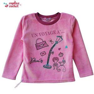 Bluza roz Un voyage a Paris 1