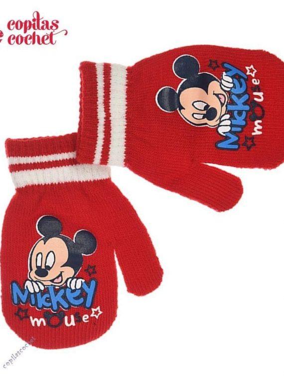 Manusi bebe Mickey Mouse (rosu) 1