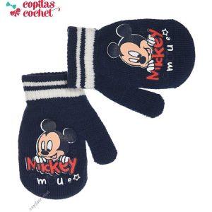 Manusi bebe Mickey Mouse (bleumarin) 1