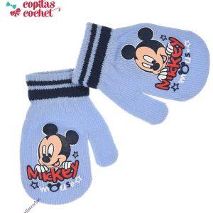 Manusi bebe Mickey Mouse (bleu) 1