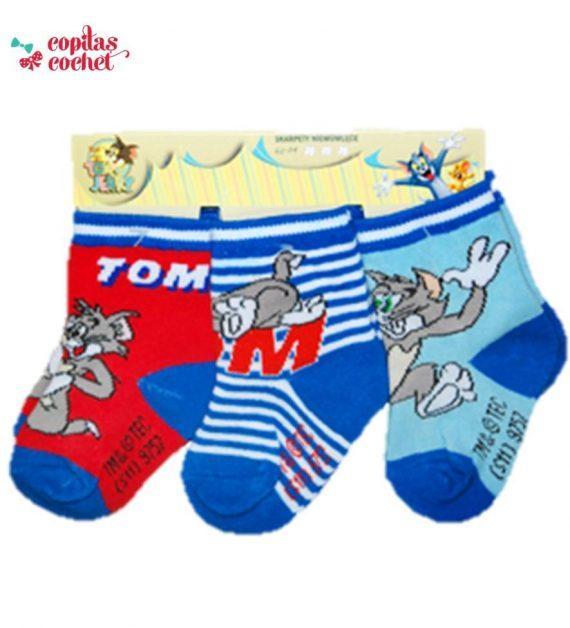 Set 3 perechi sosete bebe Tom&Jerry 1