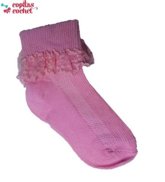 Sosete bebe dantela (roz) 1