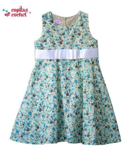 Rochie floricele (verde) 1