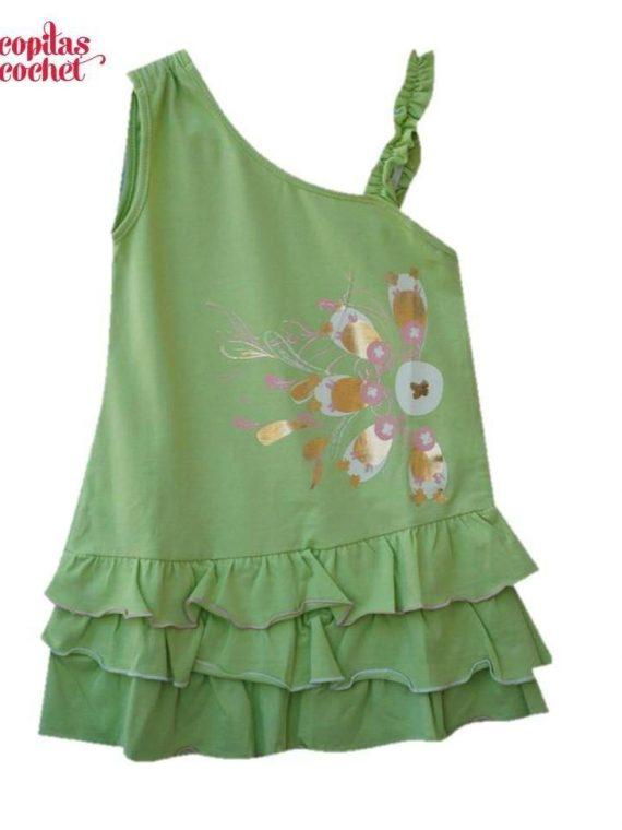 Rochie verde volanase 1
