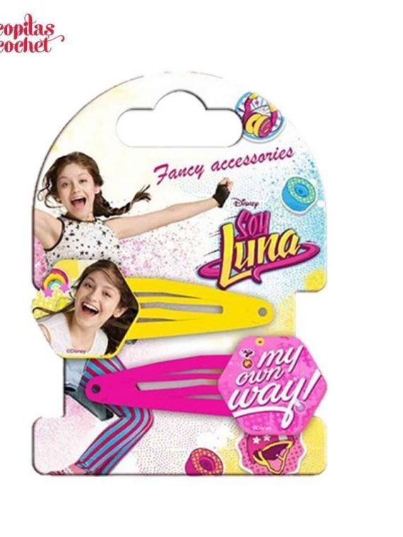 Set 2 clame Soy Luna (galben-fucsia) 1