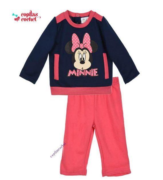 Trening bebe Minnie Mouse (fucsia-bleumarin) 1