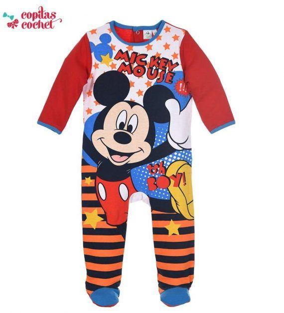 Salopeta bebe Mickey Mouse (rosu) 1