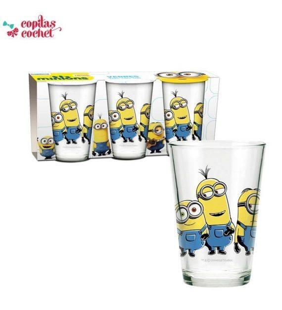 Set 3 pahare sticla Minions 1