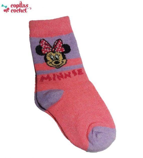 Sosete Minnie Mouse (mov-roz) 1