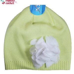 Caciula fete (verde floare) 1
