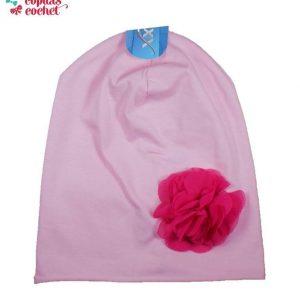 Caciula roz floare 1