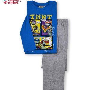 Pijamale Testoasele Ninja (albastru-gri) 1