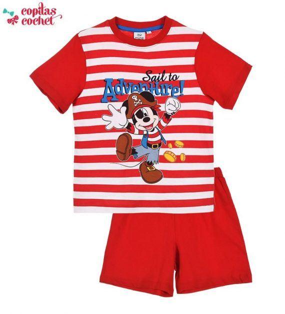 Pijamale de vara Mickey Mouse (rosu) 1