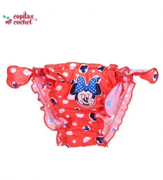 Slip de baie bebe Minnie Mouse (rosu) 1