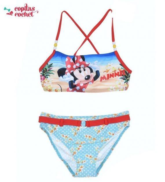 Costum de baie Minnie Mouse (turcoaz) 1