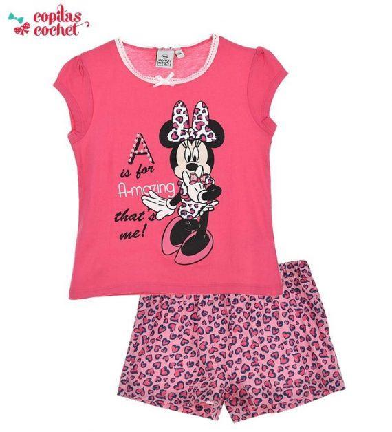 Pijamale de vara Minnie Mouse (roz) 1