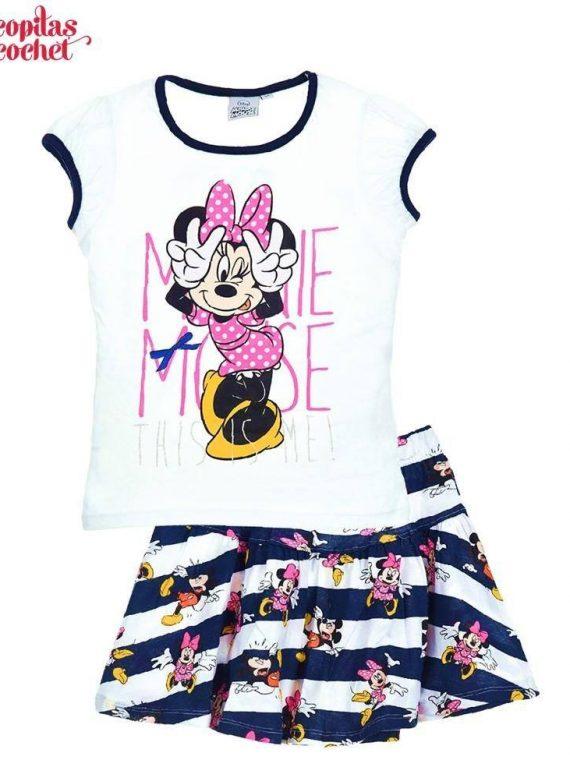 Compleu de vara Minnie Mouse (alb) 1