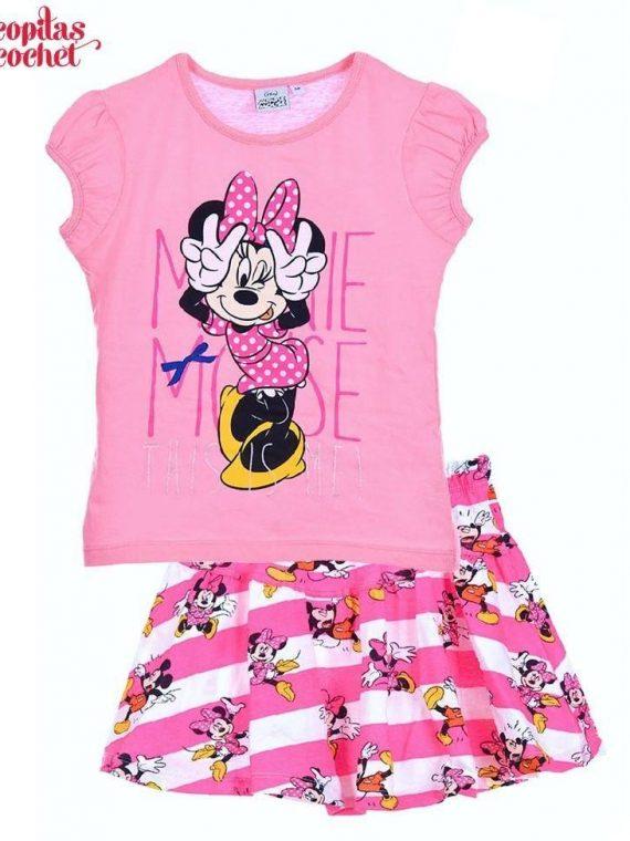 Compleu de vara Minnie Mouse (roz) 1