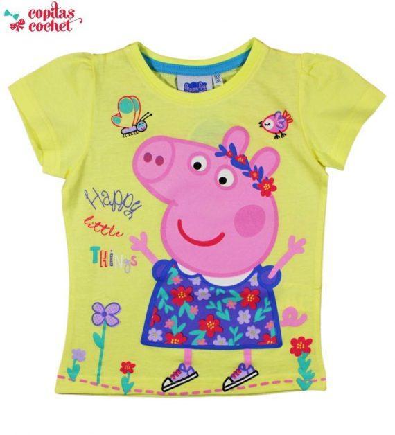 Tricou Peppa Pig (galben) 1