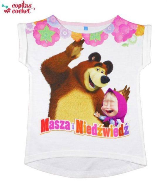 Tricou Masha si Ursul (alb) 1