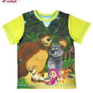 Tricou Masha si Ursul (galben) 1