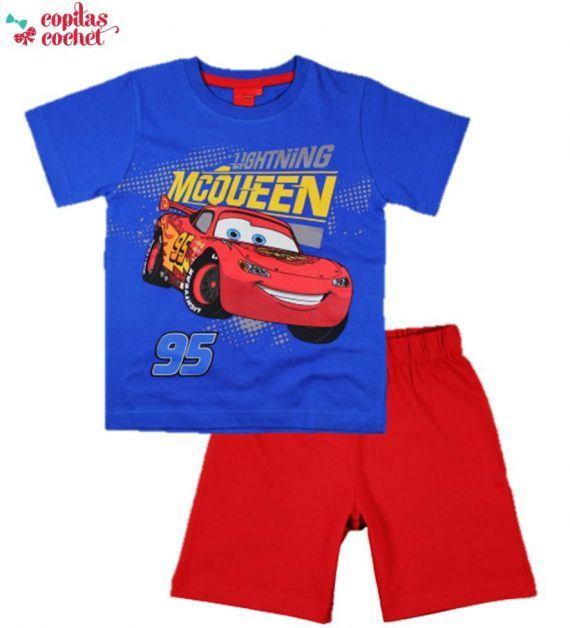 Pijamale de vara Cars (albastru-rosu) 1